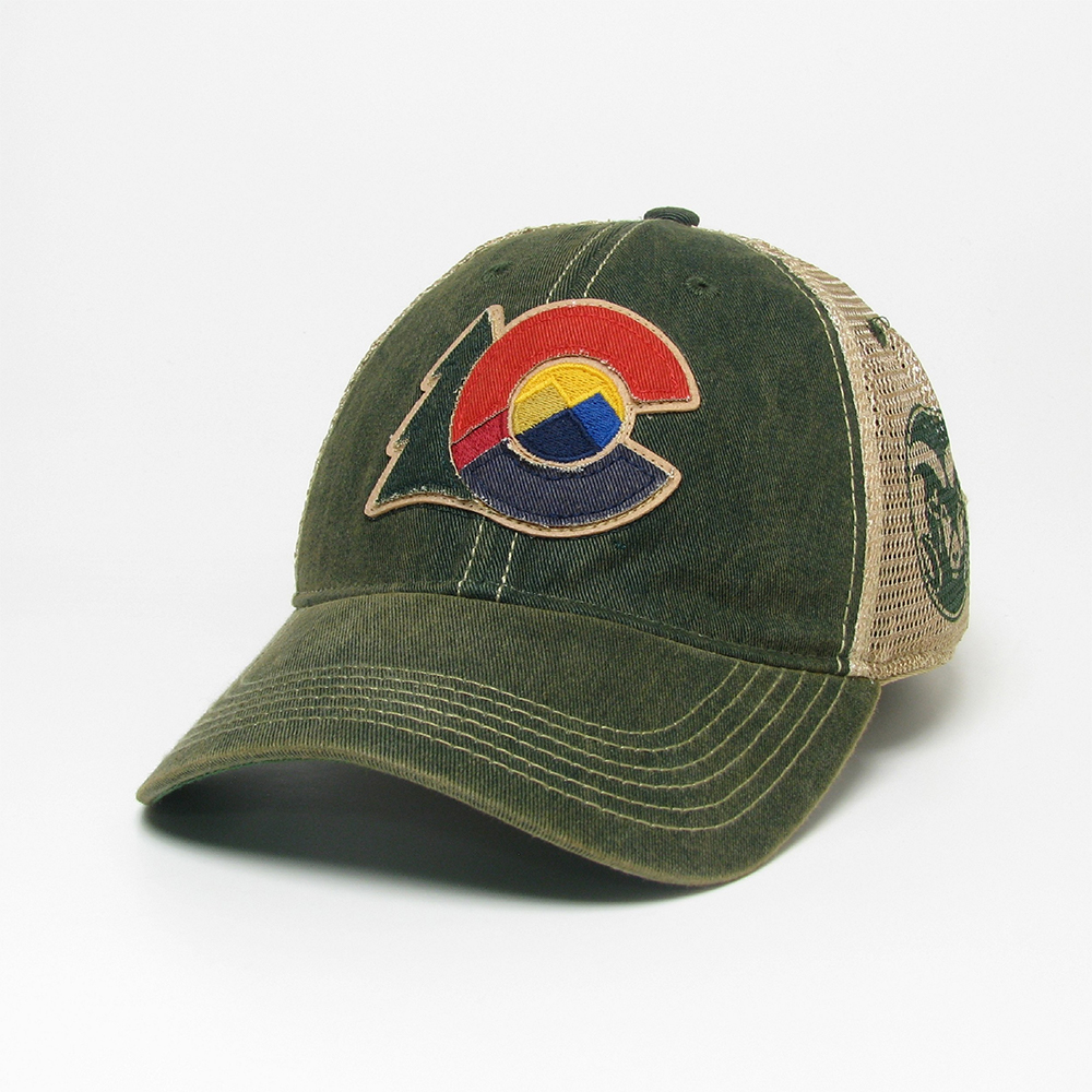 Cover Image For Green State of Colorado Logo/CSU Rams Trucker Hat by Legacy