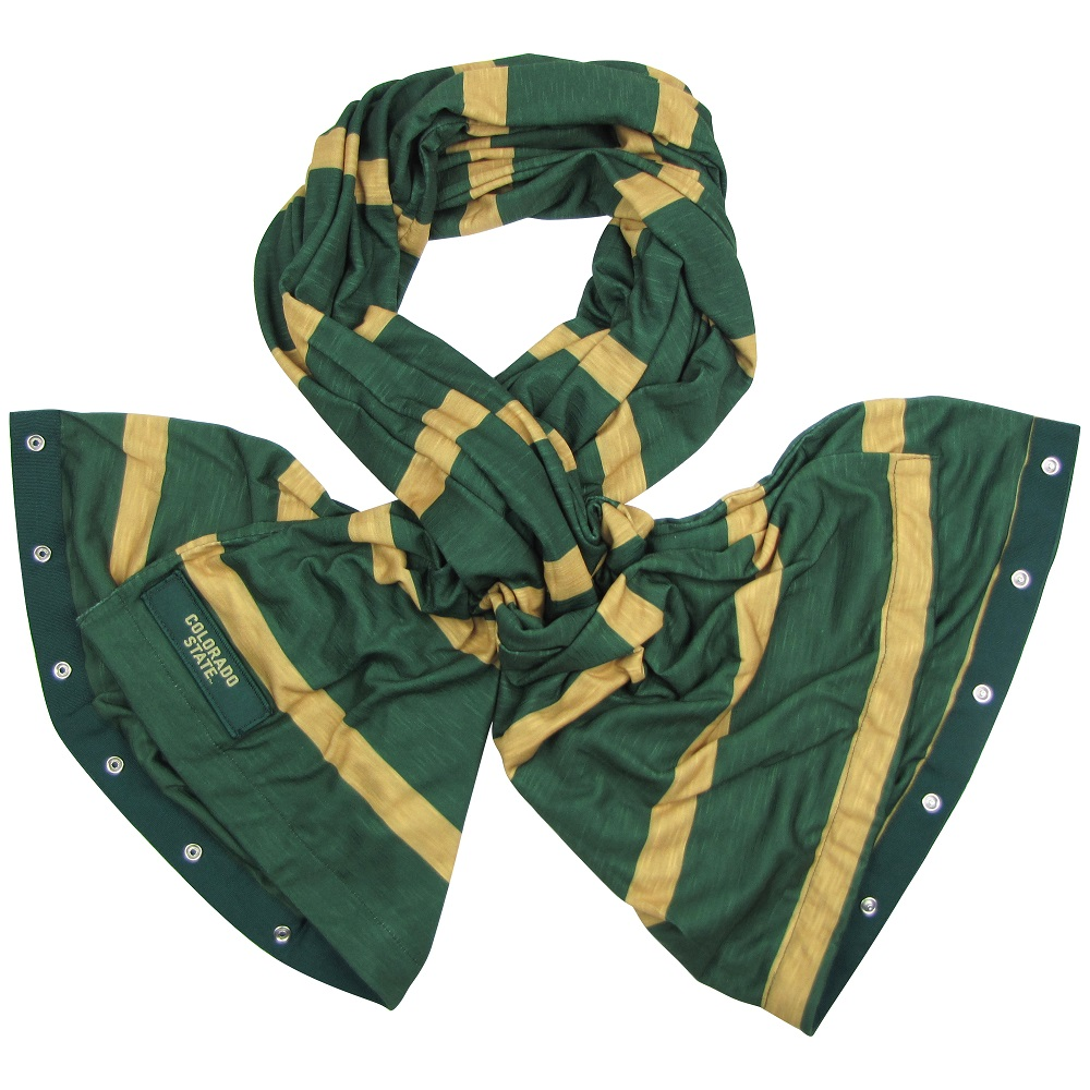 Image For CSU Green and Gold Snap Scarf by ZooZatz