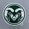 "Cover Image for 1"" CSU Ram Head Embroidered Emblem"