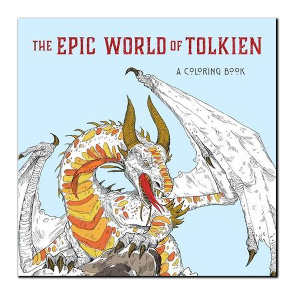 Image For The Epic World of Tolkien: A Coloring Book