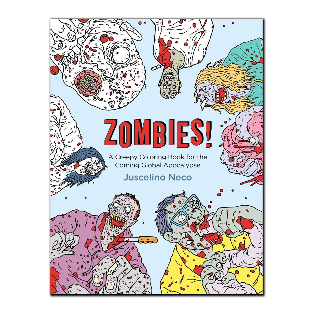 Image For Zombies! A Creepy Coloring Book