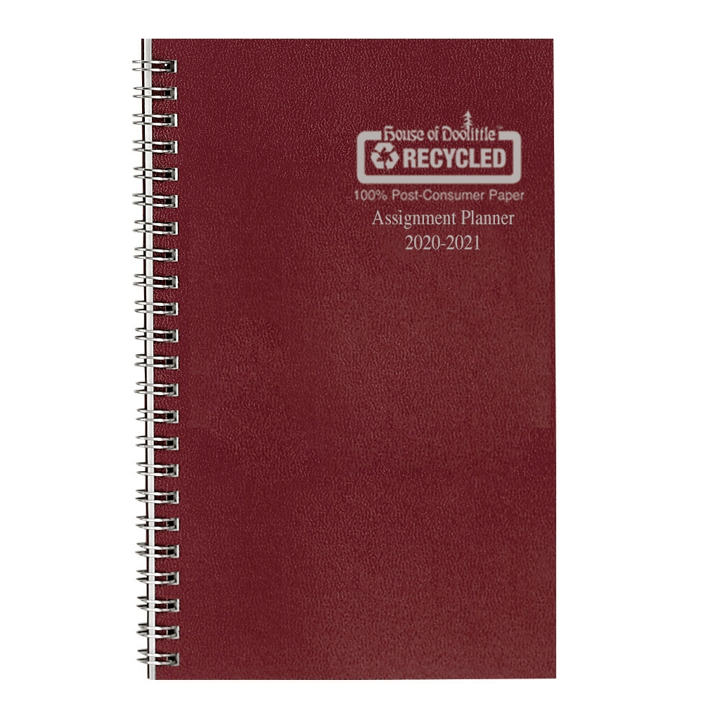 Image For Burgundy 2020-2021 Monthly/Weekly Assignment Planner