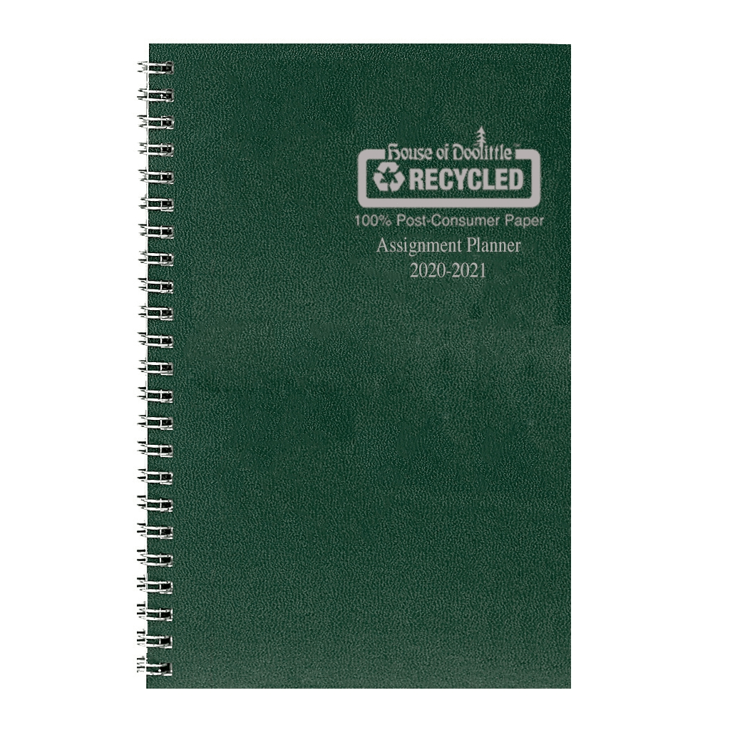 Image For Green 2020-2021 Monthly/Weekly Assignment Planner