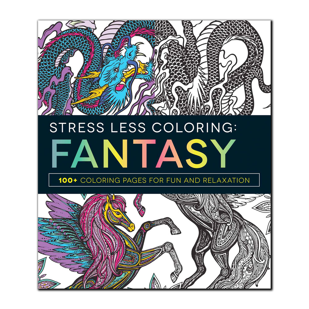 Image For Stress Less Coloring: Fantasy