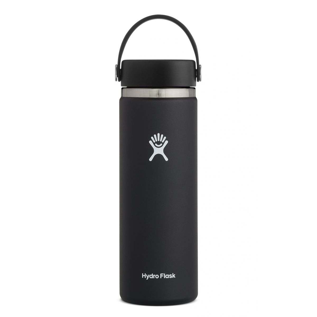 Image For Black 20oz Wide Mouth Hydro Flask Water Bottle