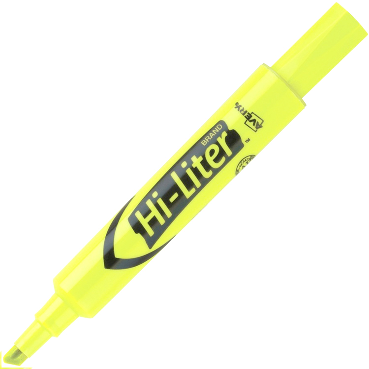 Cover Image For Avery Hi-Lighter-Yellow