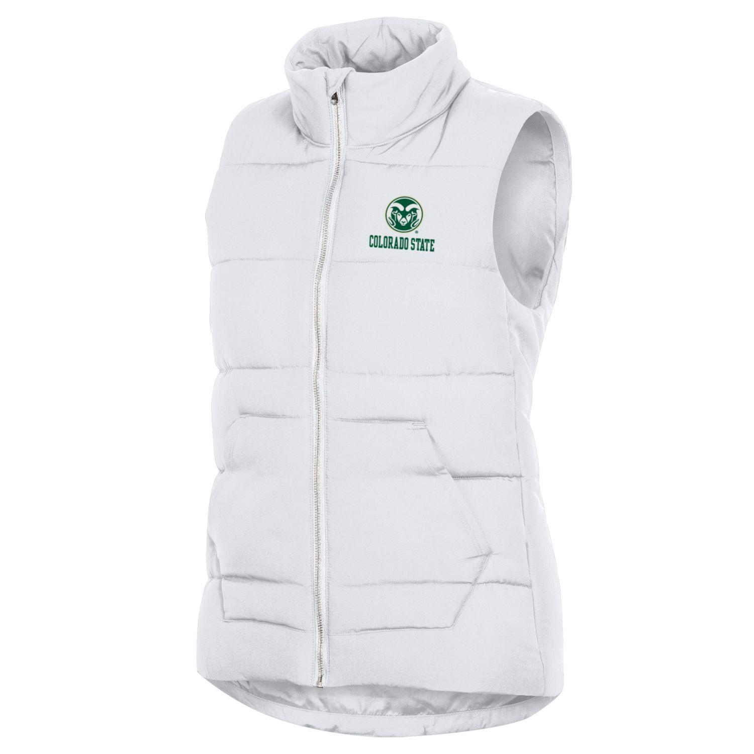 Image For Women's CSU Rams White Puffer Vest by Champion
