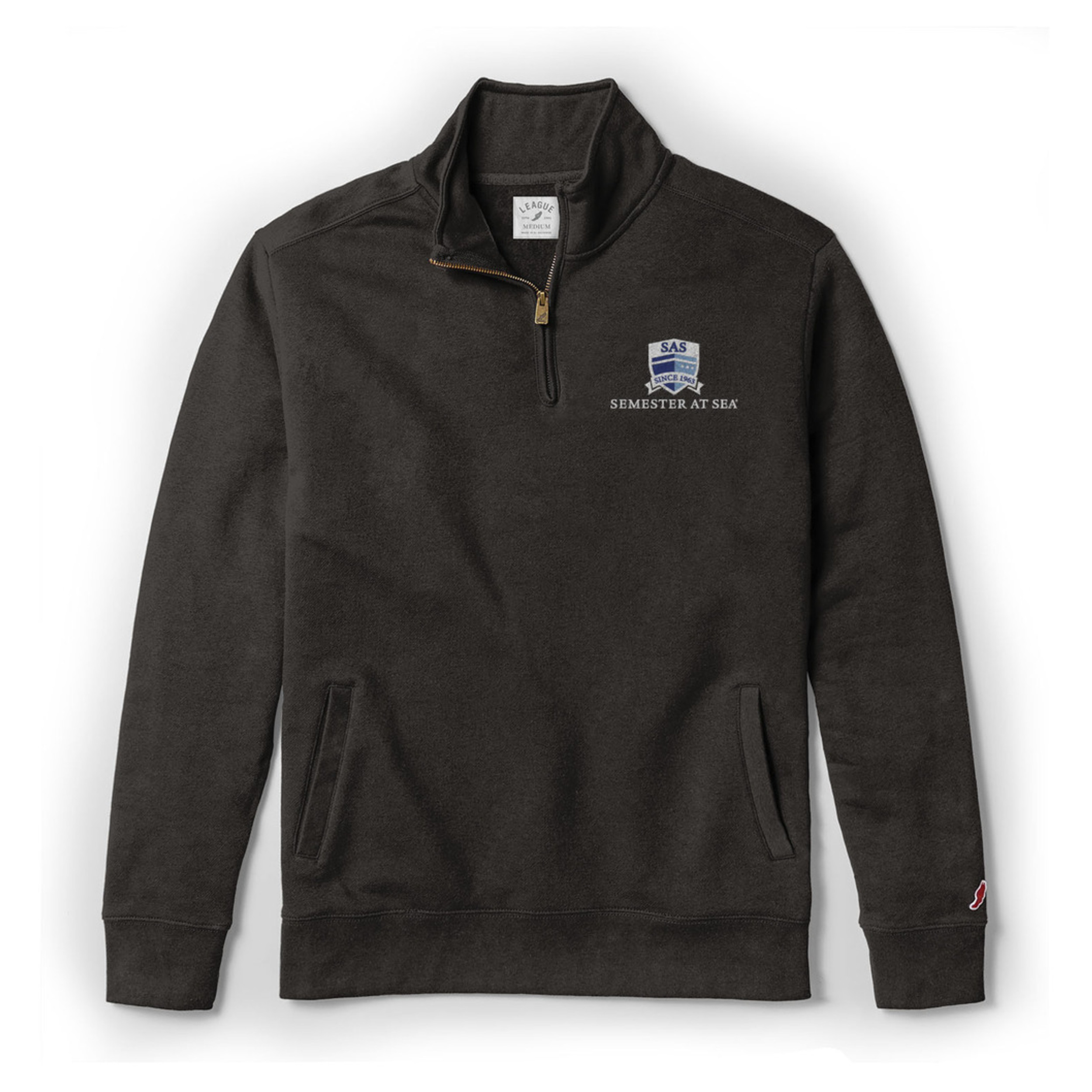 Cover Image For SAS Black Stadium 1/4 Zip Pullover by League