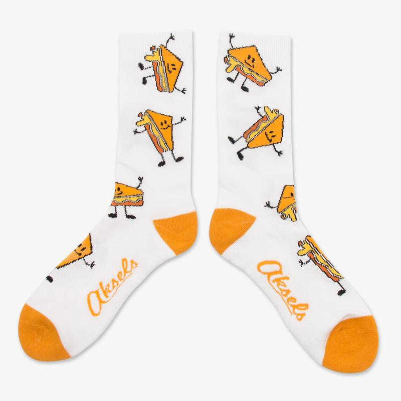 Cover Image For Grilled Cheese Socks by Aksels