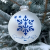 Silver Matte Semester at Sea Ornament Image