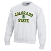 White Colorado State with Ram Head Sweatshirt by Gear Image