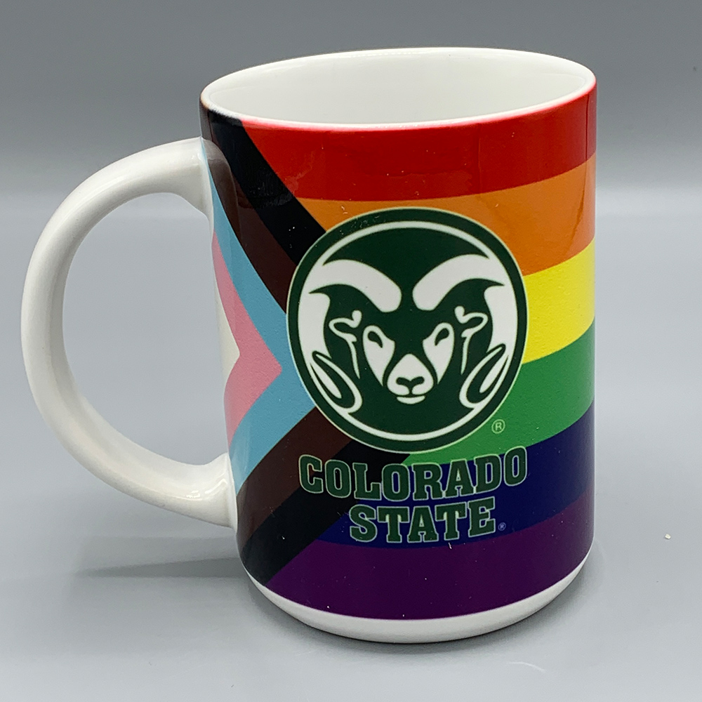 Image For Colorado State Rams Progressive Pride Flag Mug - 15 oz