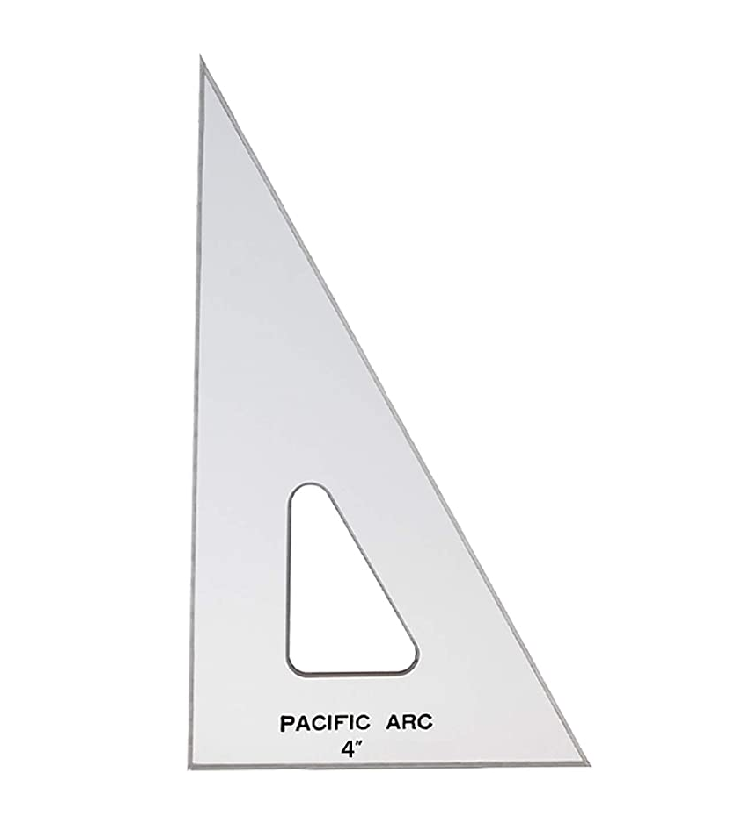 Image For Pacific Arc Drafting Triangle, 4-inch, 30/60/90 Degrees