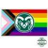 Cover Image for Colorado State Rams Progressive Pride Flag - 3 foot x 5 foot