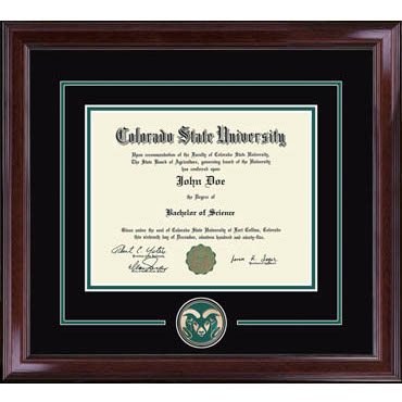 Cover Image For CSU Spirit Medallion Encore Diploma Frame