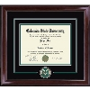 Cover Image for CSU Spirit Medallion Diploma Frame Encore with Green Suede