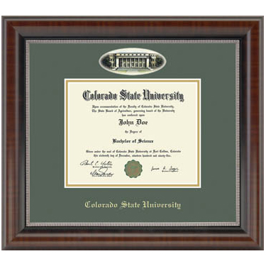 Cover Image For Colorado State University Eglomise Cameo Frame